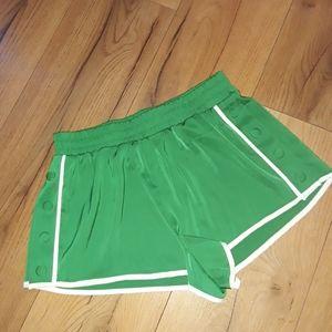 Green button down shorts
